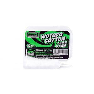 Wotofo Agleted Cotton Wick 10pcs 3mm