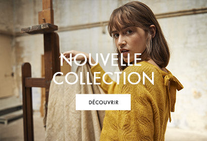 NOUVELLE COLLECTION KMJ KARL MARC JOHN PULL MAILLE MOUTARDE AUTOMNE HIVER 2020