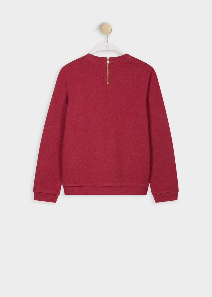 SWEAT FRAMBOISE STERNY