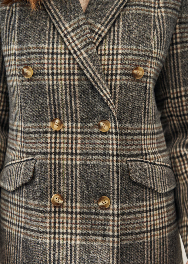 MANTEAU CARREAUX LEONARD