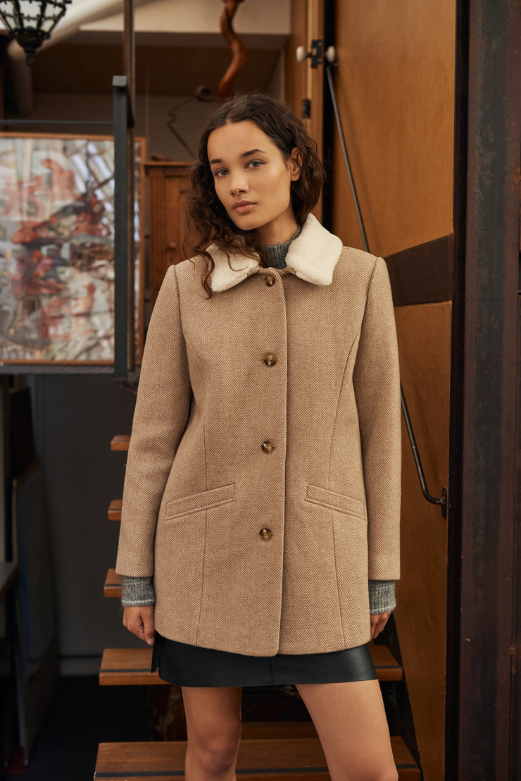 MANTEAU SABLE LORENZO