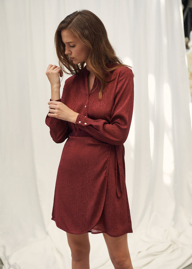 ROBE BORDEAUX ROFAIDA