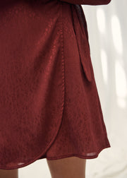 ROBE BORDEAUX ROFAIDA | Karl Marc John