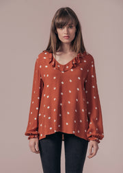 BLOUSE-TUNIQUE ROUX FOX