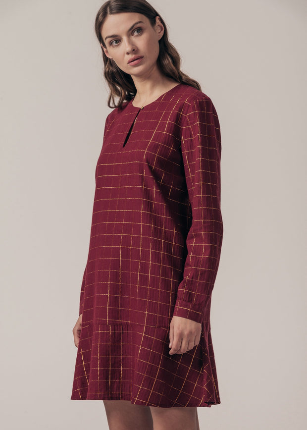 ROBE BORDEAUX RIGINE