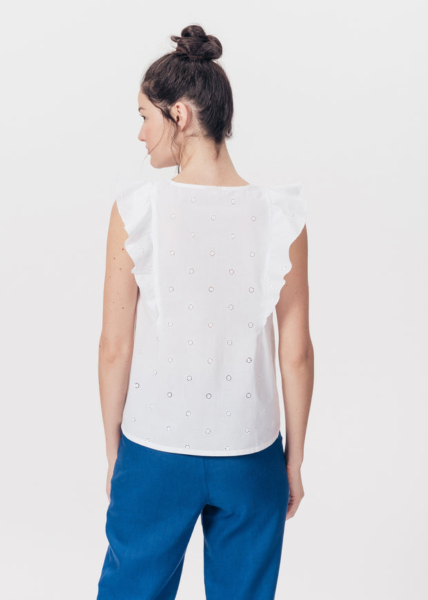 TOP BLANC TAMISE