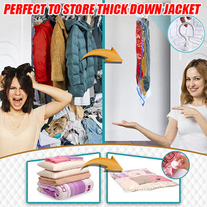 ZipClose Hang-Up Vacuum Clothing Bag