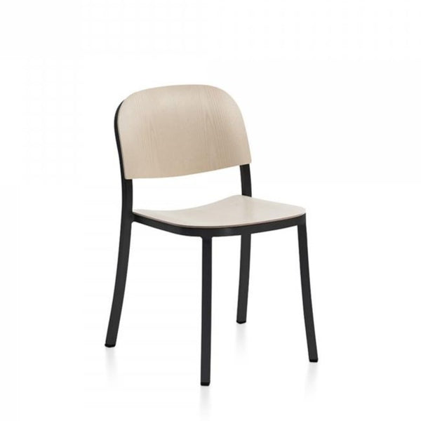 1 Inch Stacking Chair Aluminum, Wood Seat