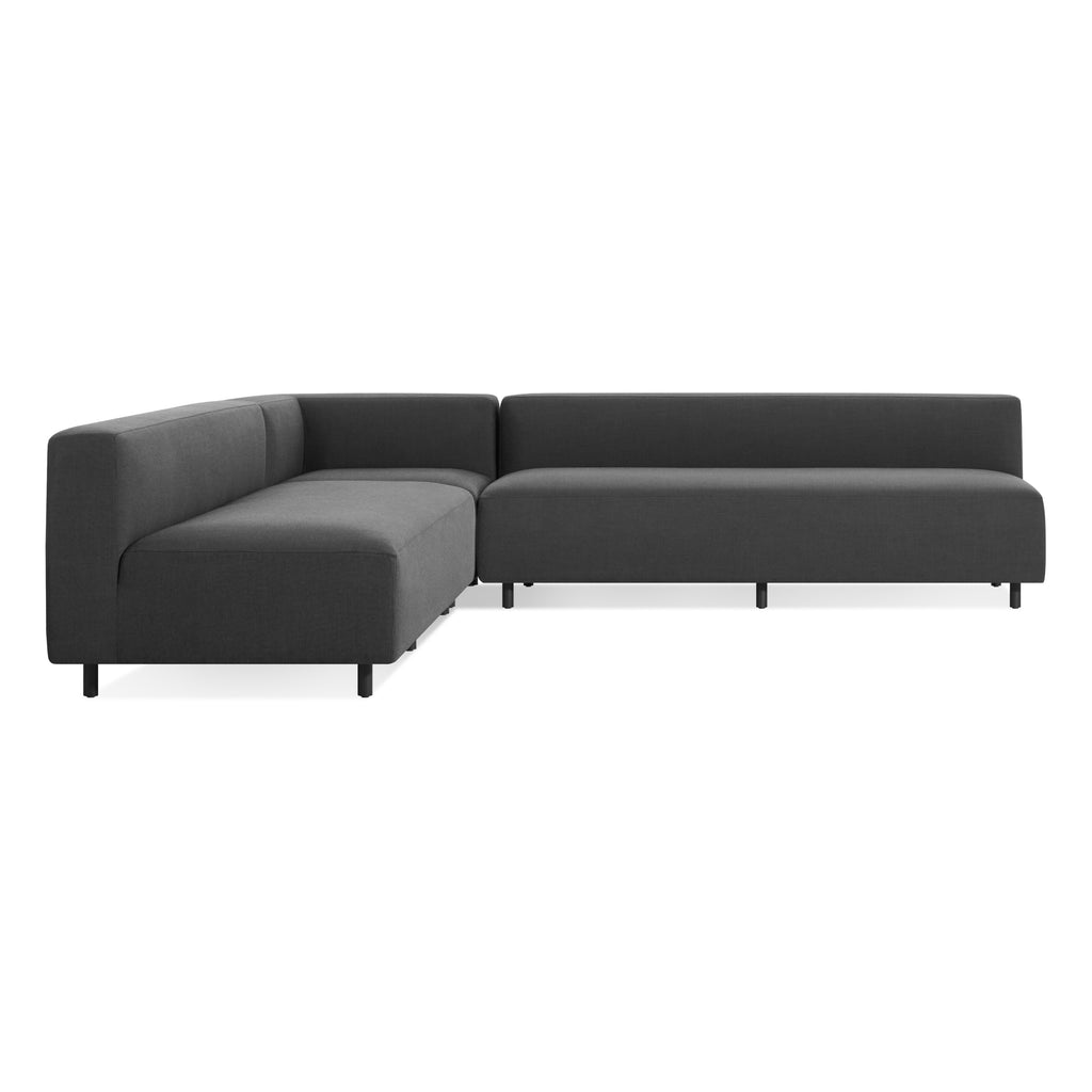 9 Yard Outdoor Armless L Sectional