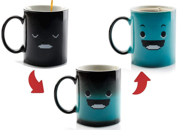 Sad Face to Happy Face Color Changing Mug