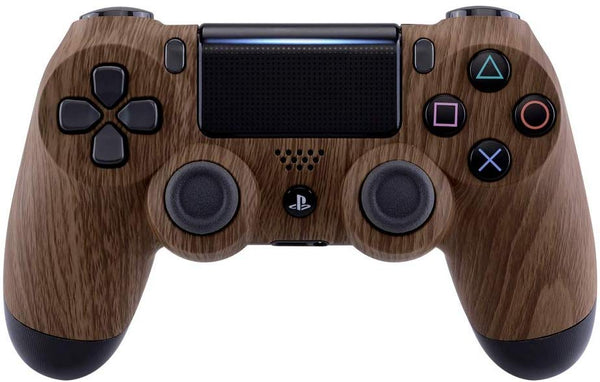 Wood Grain Patterned Soft Touch Front Housing Shell Face plate for PS4 Slim PS4 Pro Controller JDM-040 JDM-050 JDM-055