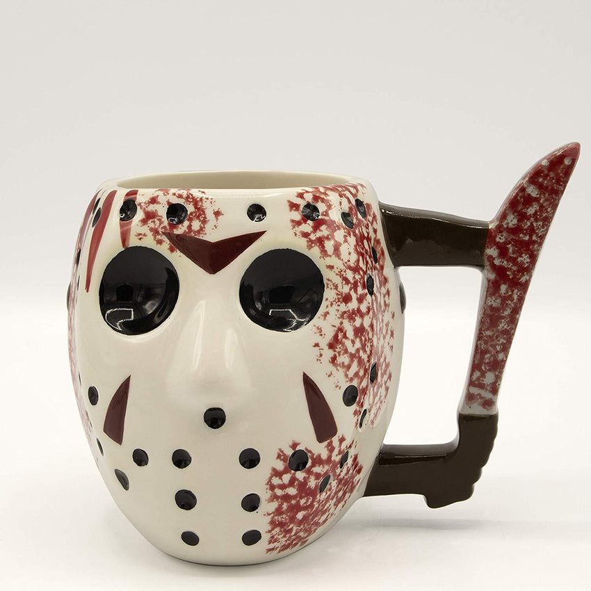 Jason Mask Ceramic 3D Sculpted Mug