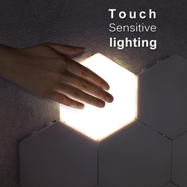 Hexagonal Modular Touch Sensitive Quantum Lighting