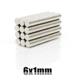 6mmX1mm Strong Cylinder Rare Earth Magnet