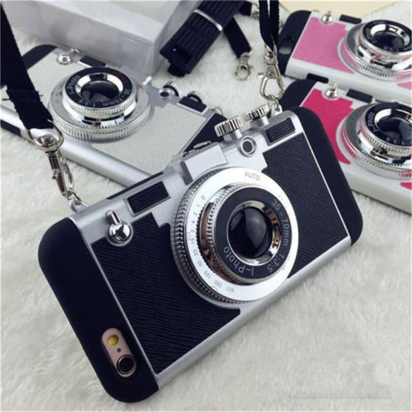 3D Camera Style iPhone Back Case Cover