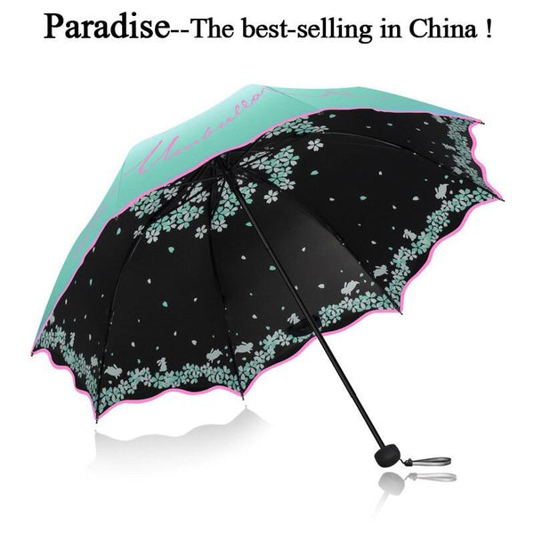 Beautiful Printed Folding Umbrella For Women