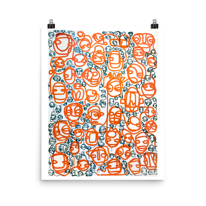 2 Lines Poster Print (16x20)