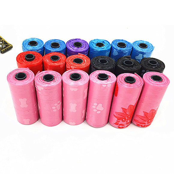 10 ROLLS (150 PCS) Random Pattern/Color, Degradable Dog Waste/Poop Bags