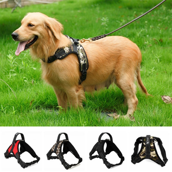 Adjustable Nylon No Pull Dog Harness For Large Dogs