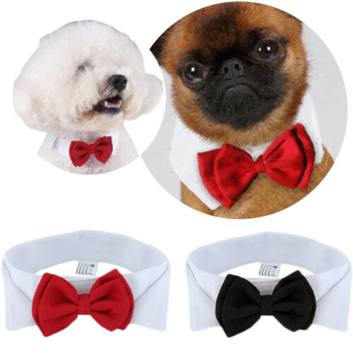 Adjustable Bow Tie Dog Collar For Wedding Party Decor
