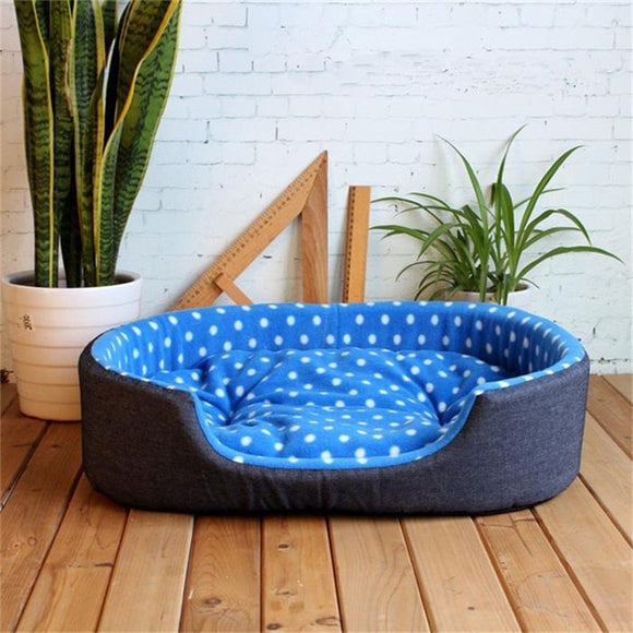 Dog or Cat Soft Warm Cozy Pet Kennel Bed w/Removable Cushion S M L XL Size