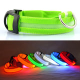 Adjustable Nylon Light Up LED Safety Dog Collar - USB Rechargeable