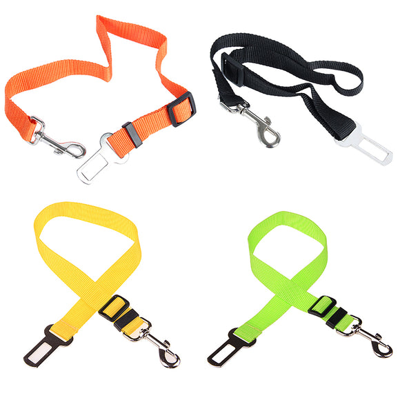 Adjustable Nylon Safety Travel Clip Seat Belt for Dogs