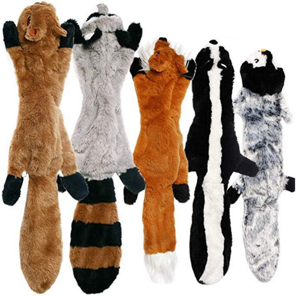 Cute Plush Fleece Squeak Dog Chew Toys * 11 Animal Styles