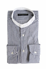 BRIAN DALES - Casual Shirt - Blue / White Striped