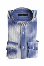 BRIAN DALES - Casual Shirt Striped - Blue / White