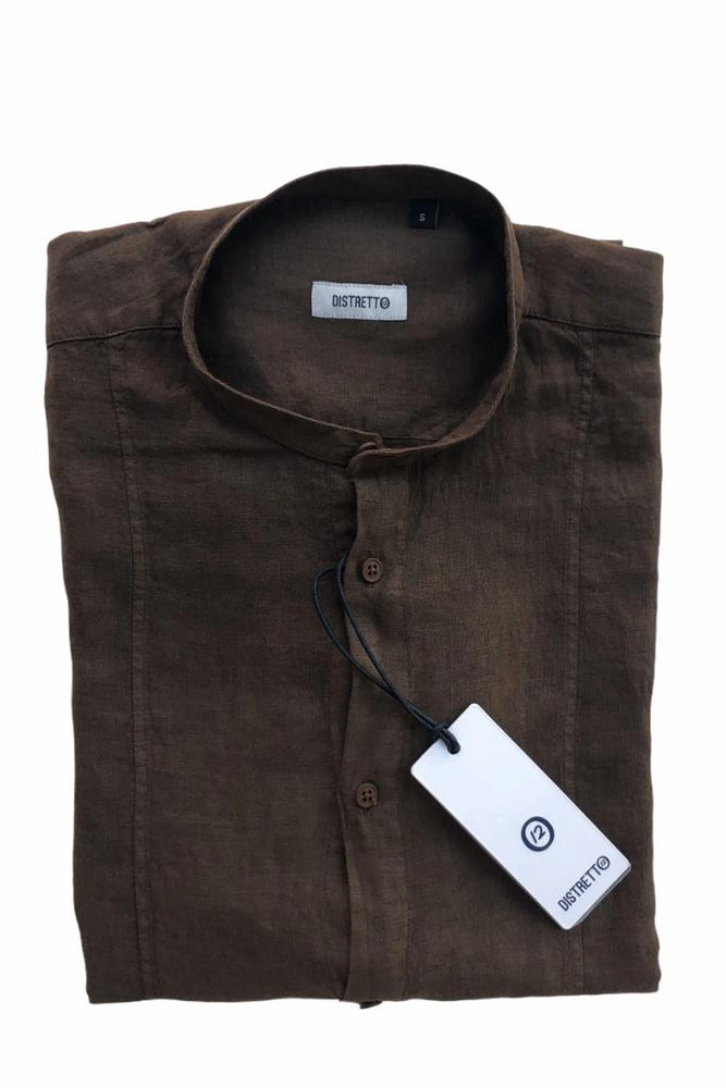 Distretto - Shirt Linen Short Model Brown