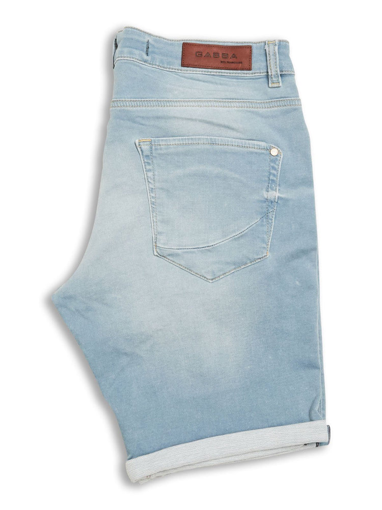 Gabba - Jason Short Lt Blue Denim Stretch Shorts Gabba
