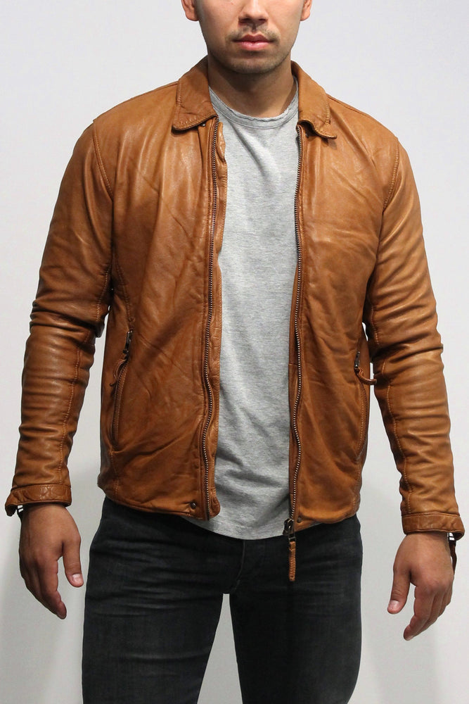 Gabba - Phir Pull Up Jacket Leather - Light Brown