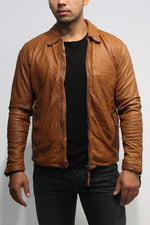 Gabba - Phir Pull Up Jacket Leather - Light Brown Jassen Gabba