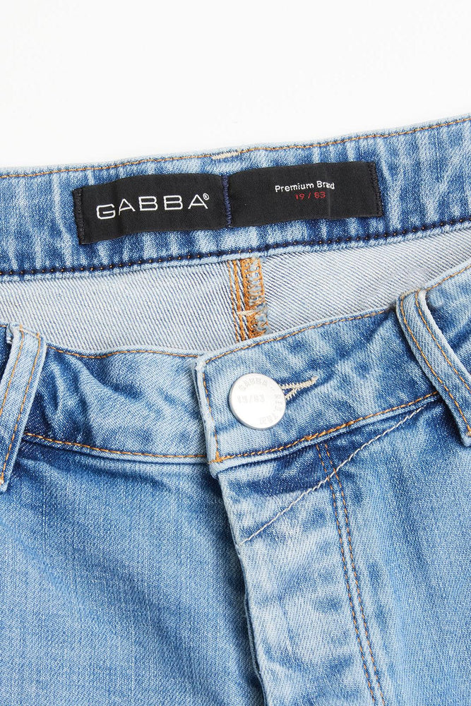GABBA - Short - Jason Destroyed Lichtblauw Shorts Gabba