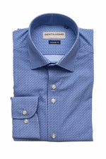 GENTILUOMO - Shirt Stretch - Light Blue Print