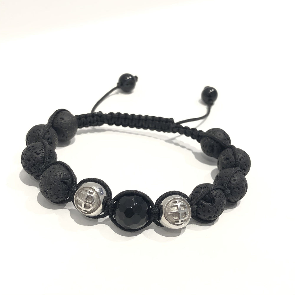 Icon-Bracelet Logo / Lava / Black 10mm Exclusive Icon Bracelets