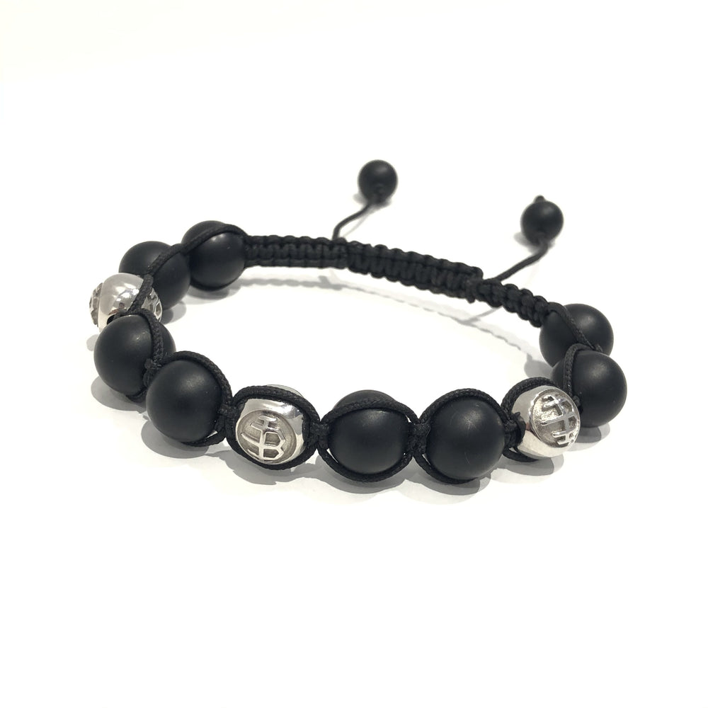 Icon-Bracelet Logo / matte Onyx / Black 10mm Exclusive Icon Bracelets