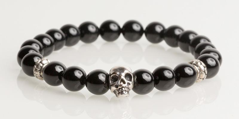 Iconbracelets Black skull
