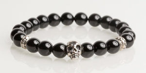 Iconbracelets Black skull 8MM Icon Bracelets