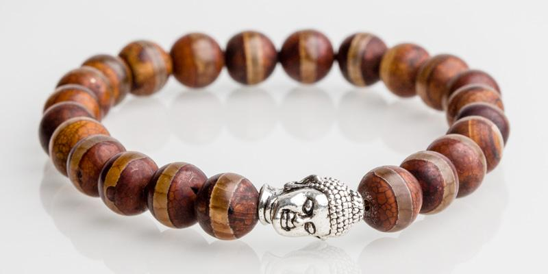 Iconbracelets Buddha Striped Brown