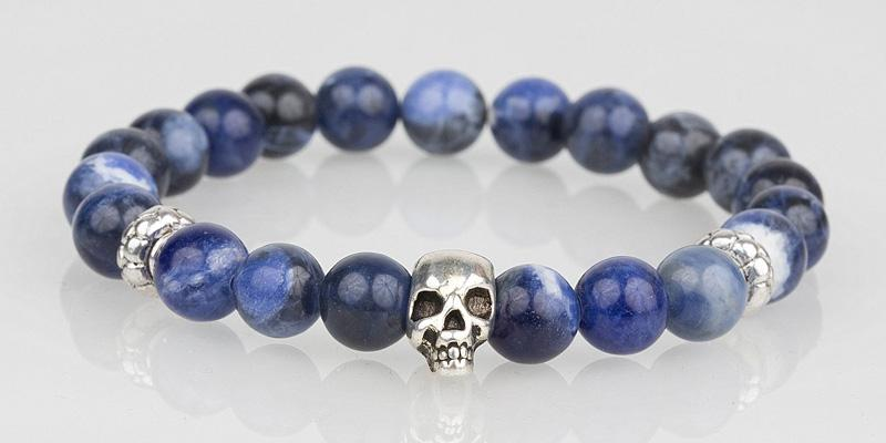 Iconbracelets Cool Blue skull