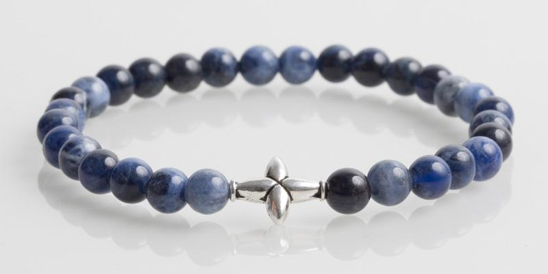 Iconbracelets Cross Cool Blue