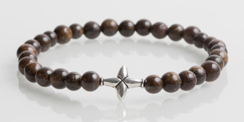 Iconbracelets Cross Dark Brown