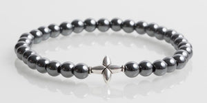 Iconbracelets Cross Hema Grey 6MM Icon Bracelets