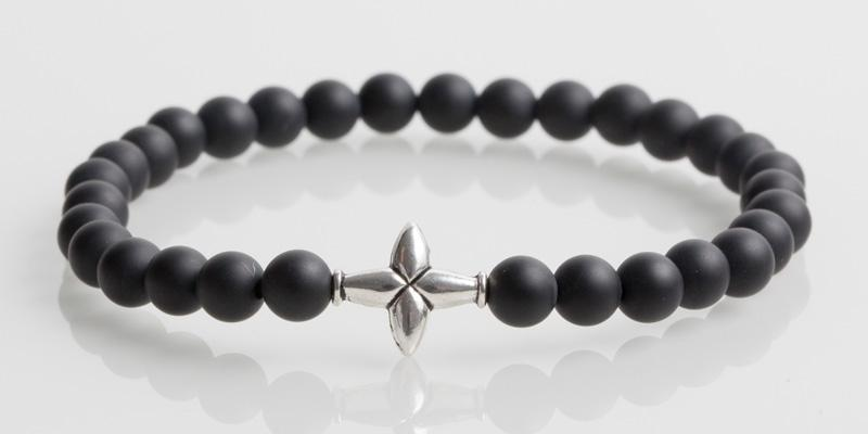 Iconbracelets Cross Matt Black
