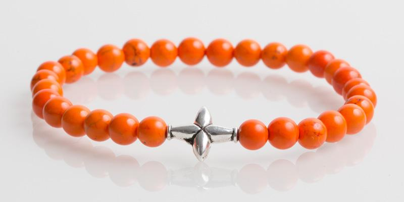 Iconbracelets Cross Orange
