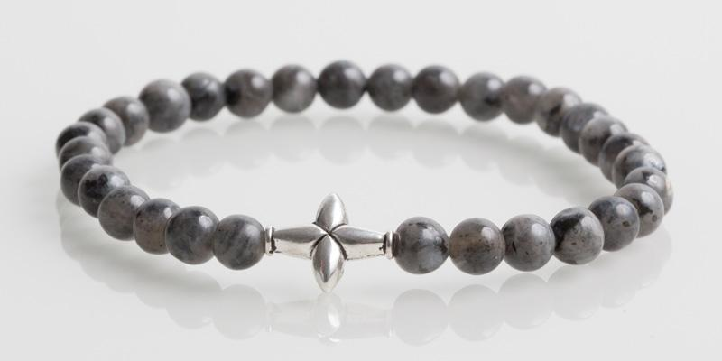 Iconbracelets Cross Steel Grey