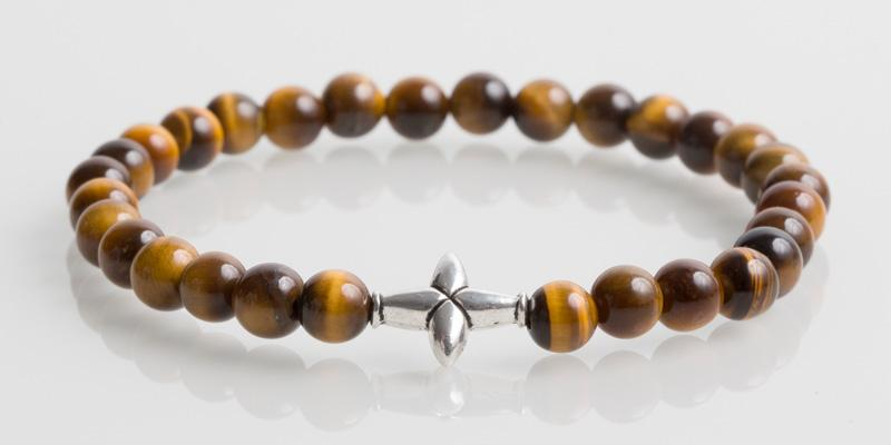 Iconbracelets Cross Yellow Tiger Eye