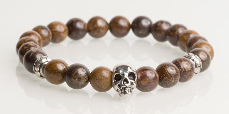 Iconbracelets Dark Brown skull
